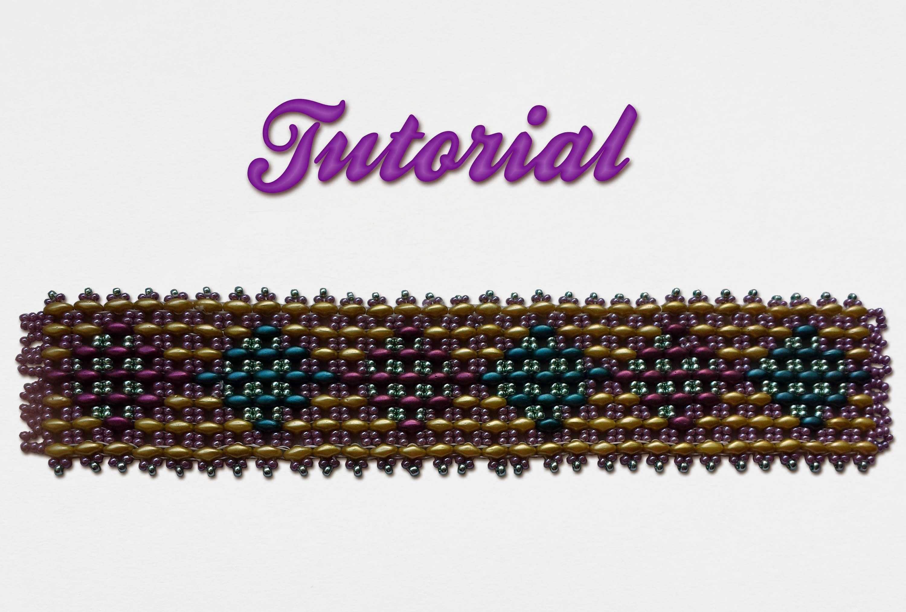 [ Beadwork ] | DIY | Tutorial .:: Superduo's Bracelet ::.