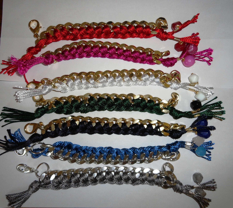 DIY: How TO: Realizzare bracciali con catena e filo di cotone