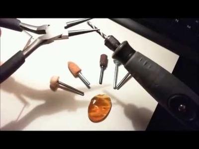 DIY Tutorial gioielli: usare il Dremel per lavorare l'ambra