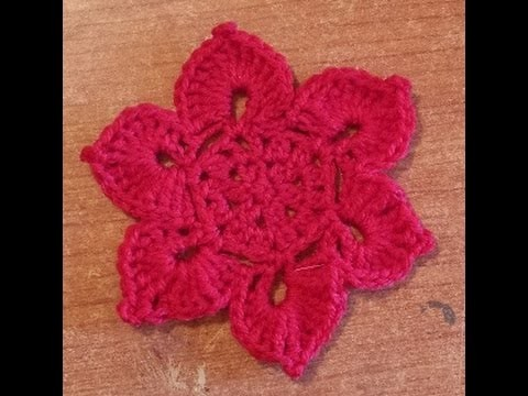 Fiore di loto all'uncinetto - Tutorial schema fiore - Flower crochet