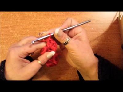 Il punto coccodrillo lavorato in tondo crochet - tutorial uncinetto