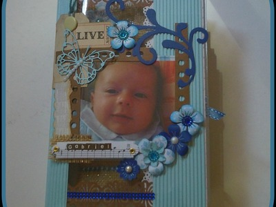 Mini Album  il mio Battesimo- Scrapbooking Tutorial | Scrapmary
