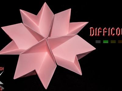 [ORIGAMI ITA] Fiore.Portaoggetti || Origami Decorativi.Utili.Fiori