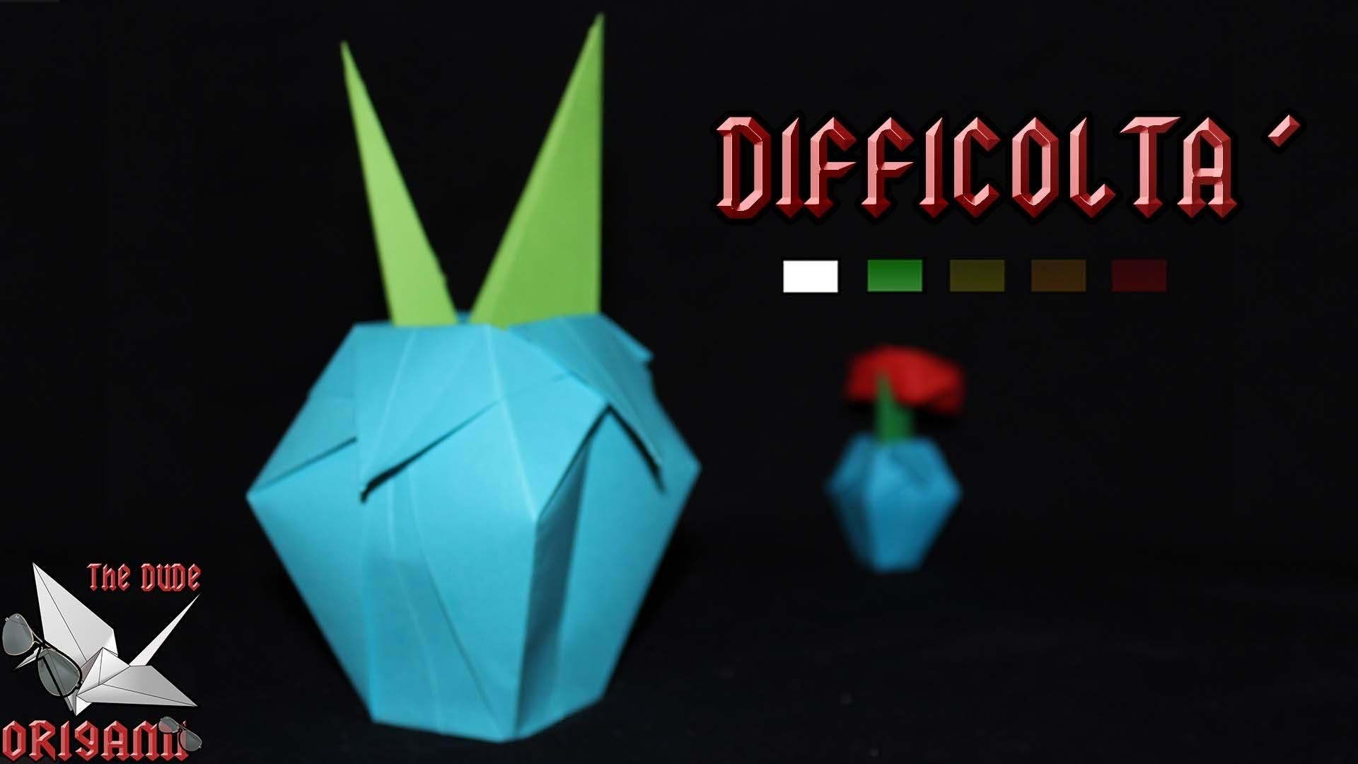 [ORIGAMI ITA] Gambo e Vaso per Fiori || Origami Per Decorazioni