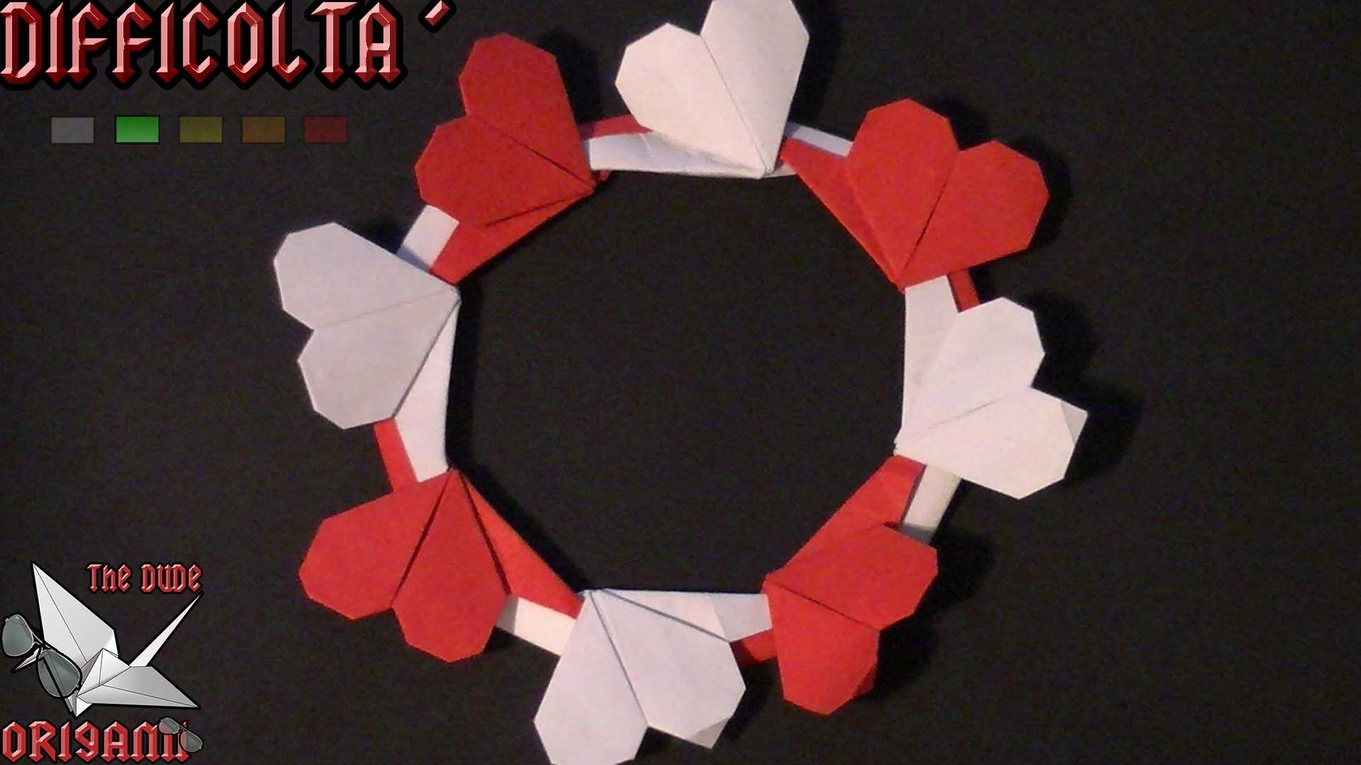 [ORIGAMI ITA] Ghirlanda Di Cuori #2 || San Valentino Special