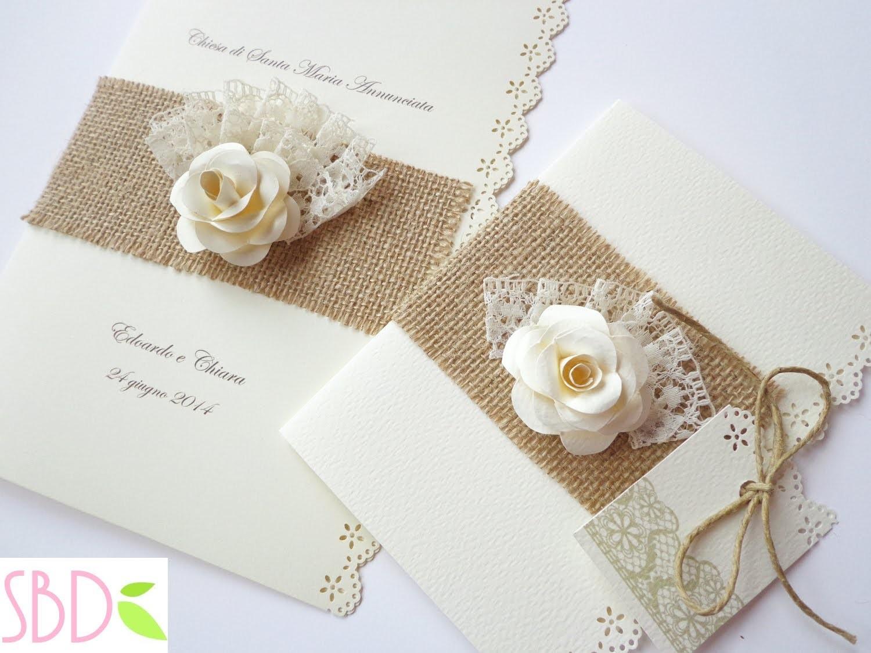 Partecipazioni Matrimonio Natalizio : Partecipazioni di nozze shabby wedding