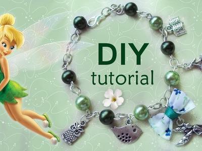 Tutorial: Braccialetto ispirato a Trilly della Disney - ♥ - DIY: Bracelet Disney's Tinkerbell