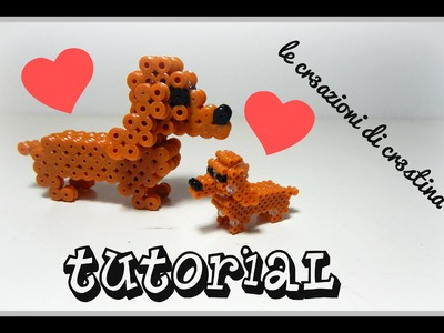 Tutorial Cane Bassotto 3D con Hama Beads - DIY Dog Perler Beads