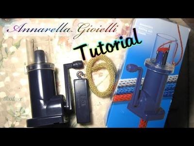 Tutorial | Come si usa il tricotin a manovella | Realizzare un tubolare a maglia