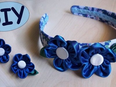 Tutorial: Fiori in Stoffa e Cerchietto per Capelli ispirati alla primavera - DIY SPRING HAIRBAND