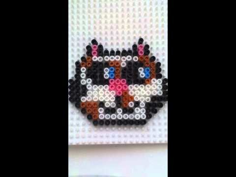 Tutorial : gattino con pyssla. hama beads