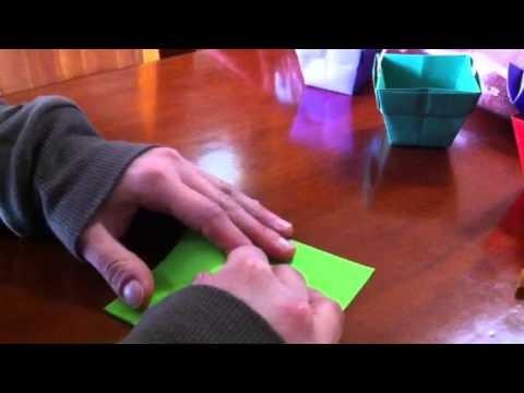 Tutorial Origami: cestini colorati per confetti e caramelle