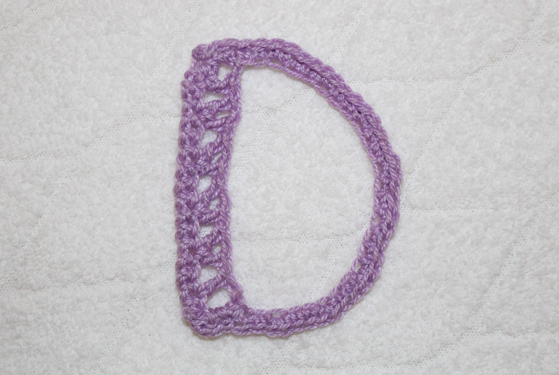 Alfabeto all'uncinetto: lettera D - Crochet alphabet: letter D