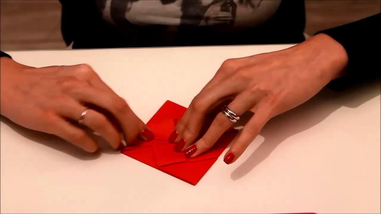 Biglietto Cuore Origami San Valentino