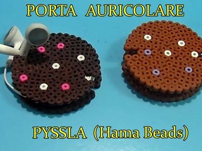 ★ Biscotto Porta Auricolare 3D Con PYSSLA (Hama Beads)Tutorial ★