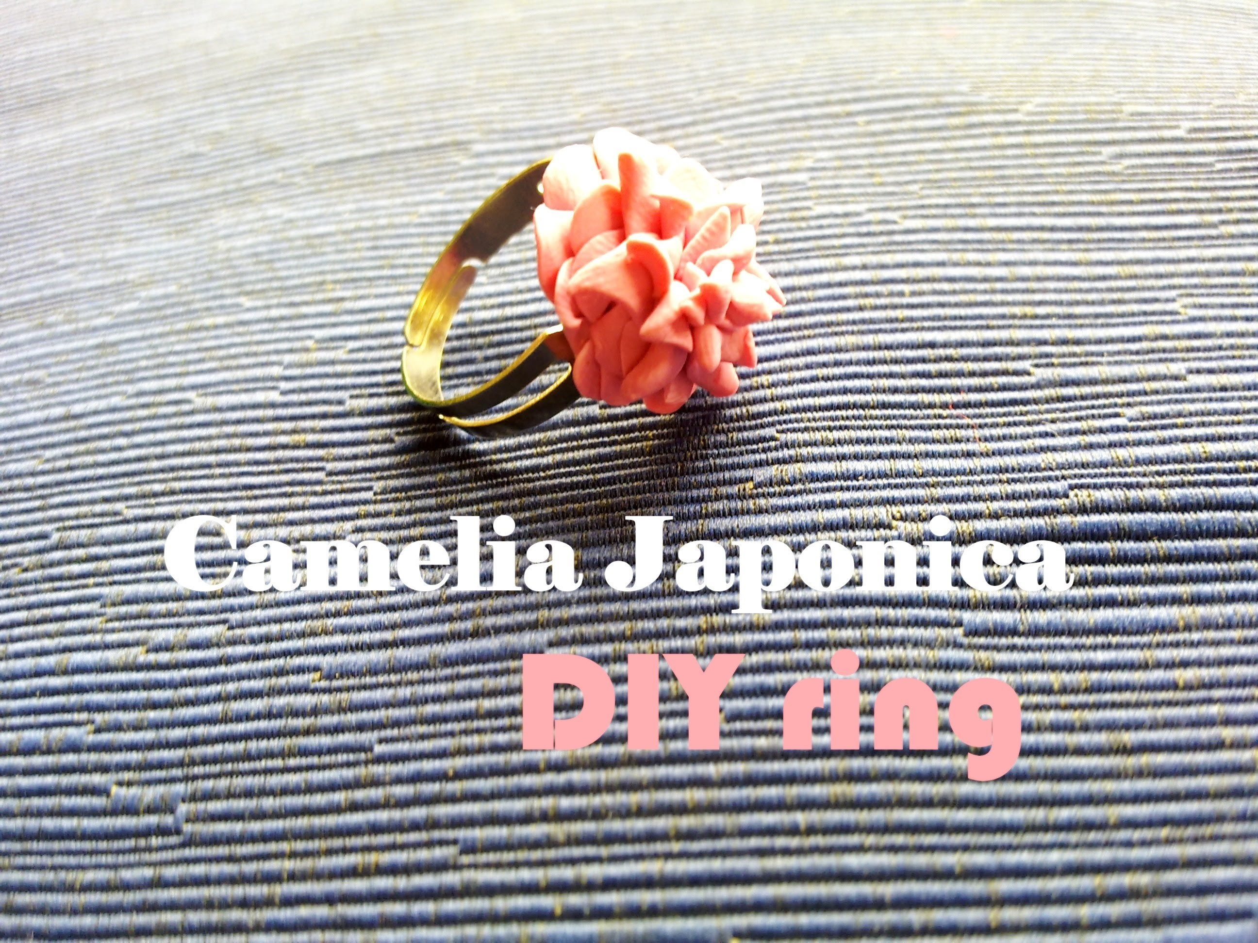 """Camelia Japonica """"Anello"""" ❀ Camellia Japonica - DIY Ring in Polymer Clay ✿ Tutorial"""