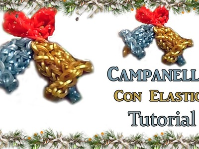 ★Campanelle in 3D Con Elastici DIY RAINBOW LOOM★ Tutorial!