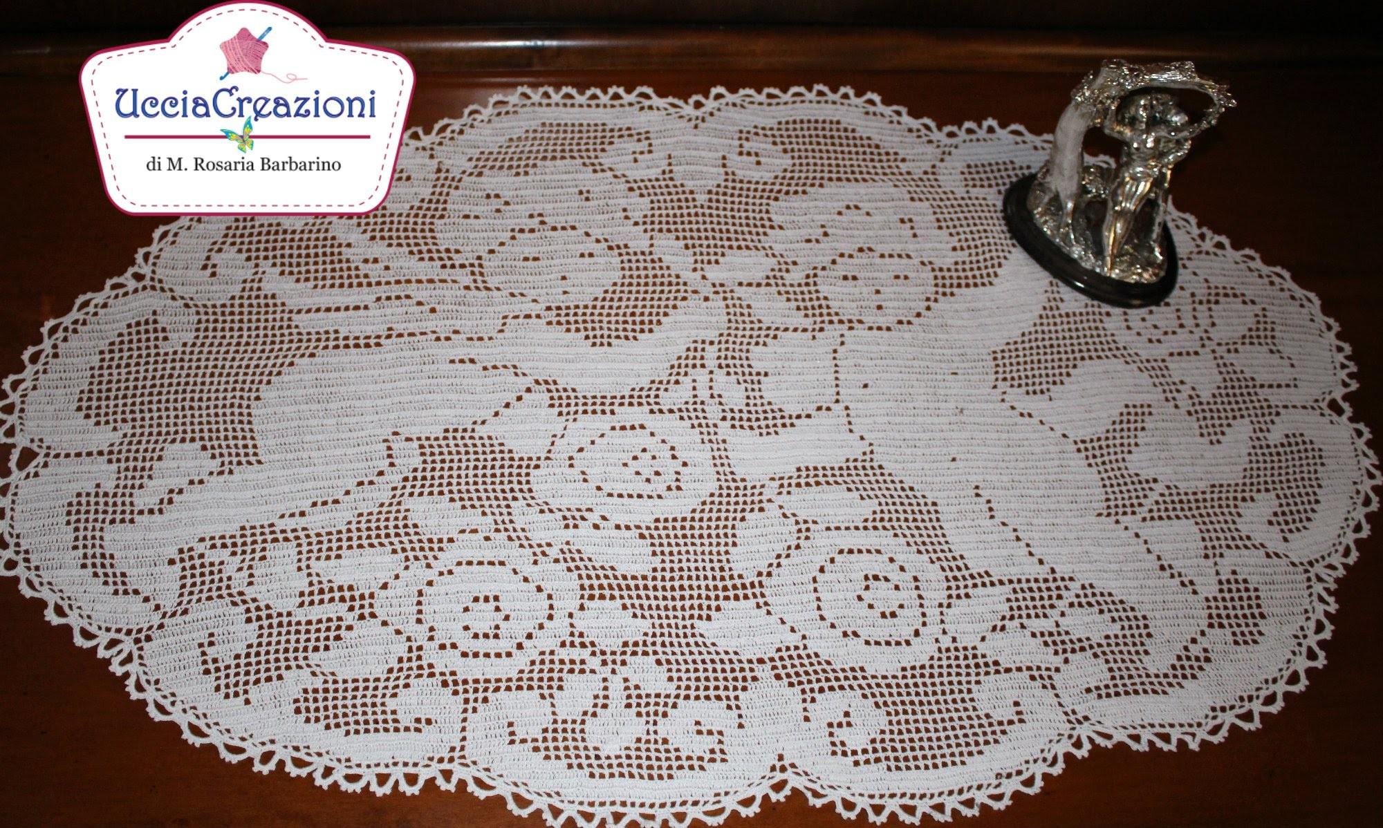 Creazioni Uncinetto e Chiacchierino Filet Crochet HANDMADE tatting Ucciacreazioni