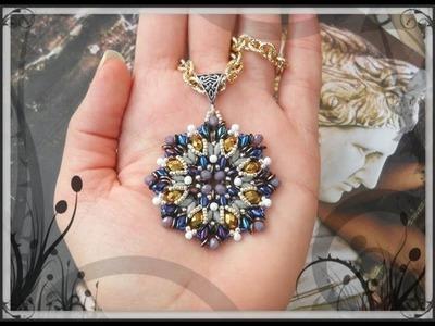 """DIY modulo """" DEXTER"""" per Orecchini Ciondolo Bracciale - O-beads Superduo Cipollotti Twin perline"""
