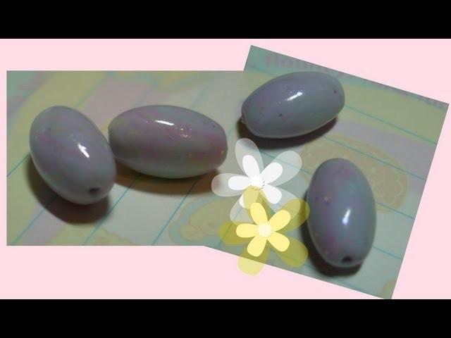 DIY Polymer clay:fake opal beads. tutorial finta pietra(opale)