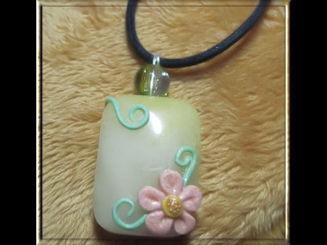 DIY Polymer clay: floral charm. tutorial pendente floreale!