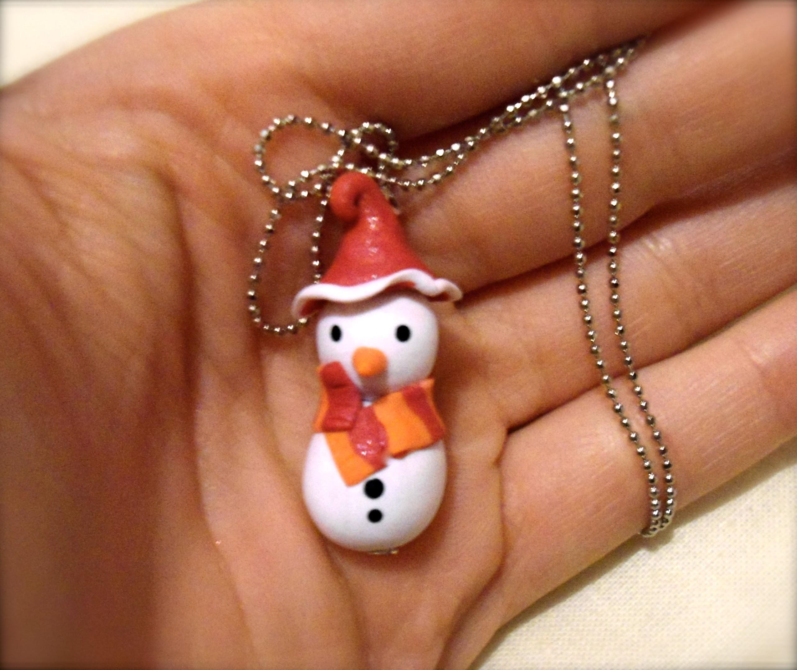 DIY Polymer clay snowman. pupazzo di neve!