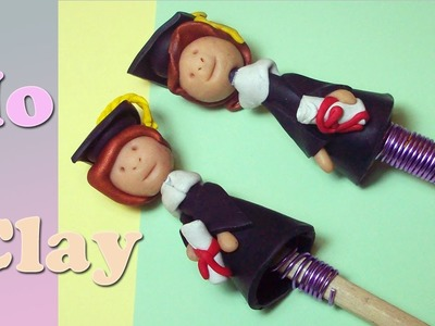 Diy: Polymer clay Tutorial -ricordo per una Laurea - Regalo de graduacion - Graduation Gift