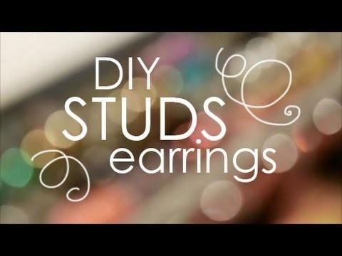 DIY: Studs earrings