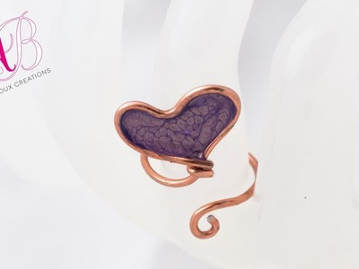 DIY tutorial anello San Valentino wire e colori pebeo