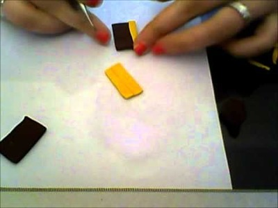DIY:Tutorial Tegolino in fimo.polymer clay