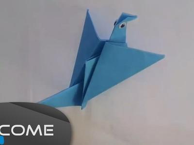Fare l'origami di un uccello che muove le ali