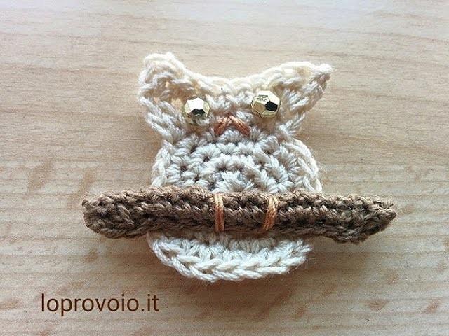 Gufo all'uncinetto - Crochet owl