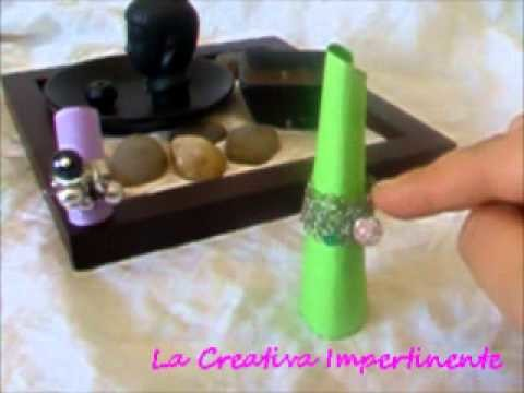 Idea Creativa - realizzare espositori per anelli | paper craft hand made ring displayer