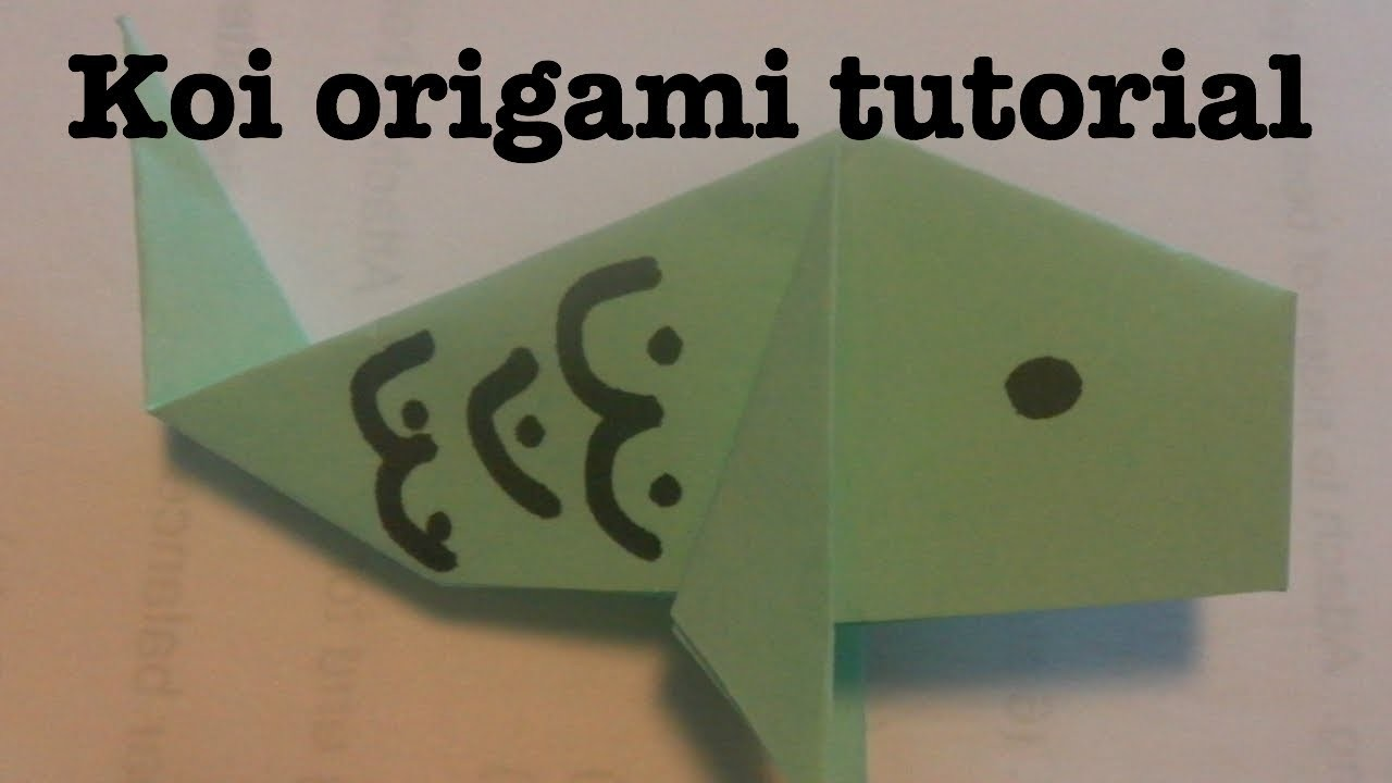 Japan Carp Origami Tutorial