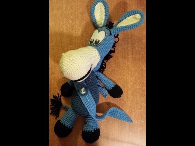 Pupazzo Asinello uncinetto - Mascotte del Napoli amigurumi - Parte 2 di 2 - tutorial crochet