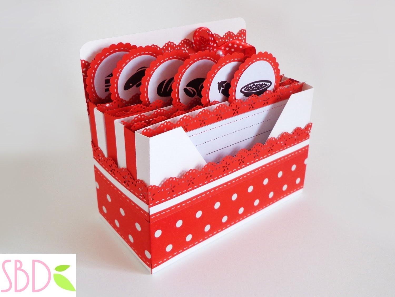 Scrapbooking: Scatola porta ricette - Receipes Box