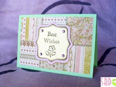 Scrapbooking tutorial: Card Patchwork