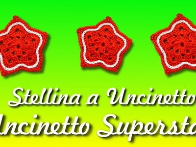 Stella a uncinetto - Decorazioni natalizie | Easy crochet star tutorial