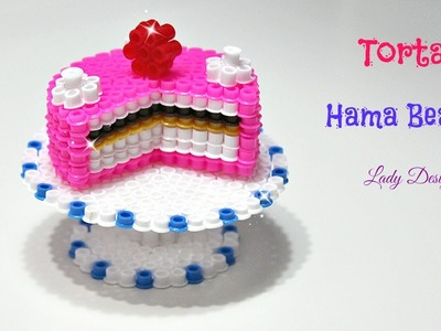 Torta 3D con Pyssla. Hama Beads. Perler Beads Cake 3D Tutorial