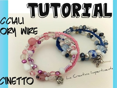 Tutorial bracciale uncinetto e filo armonico | wire and cotton crochet bracelet
