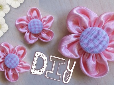 Tutorial: Come Realizzare un Fiore di Stoffa  - ♥ -  DIY: Pink Fabric Flower ✂
