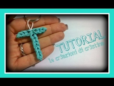 Tutorial Lettera T con Elastici RAINBOW LOOM - DIY Charm Lettere dell'Alfabeto