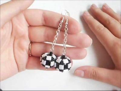 Tutorial orecchini perle ingabbiate con tila beads