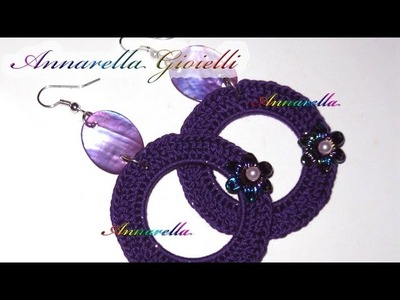 Tutorial orecchini uncinetto, cerchio vuoto - (Crochet earrings)