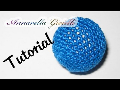 Tutorial | Rivestire perla all'uncinetto | Crochet bead