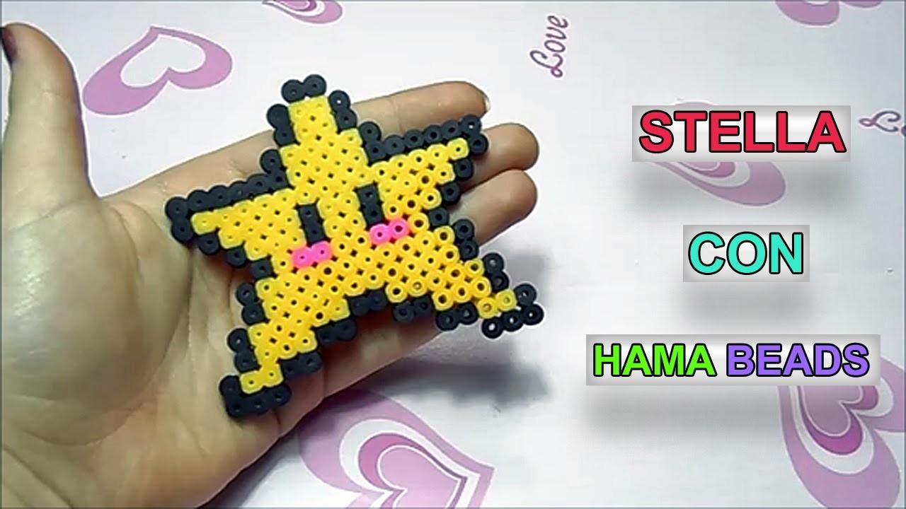 """Tutorial Stella con Pyssla.Hama Beads """"Como Hacer Una Estrella de Hama """""""