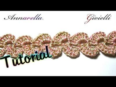 Tutorial Uncinetto | Bracciale per mercatino | Crochet bracelet