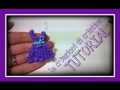 Tutorial Vestitino con Elastici RAINBOW LOOM - DIY Dress Charm