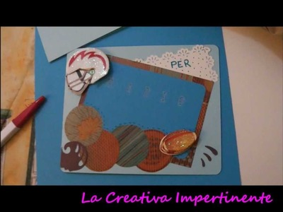 Creazione Scrapbooking - Un biglietto da uomo
