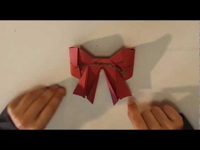 Decorazione per l'albero _ Fiocco origami _ Tutorial Musinlove